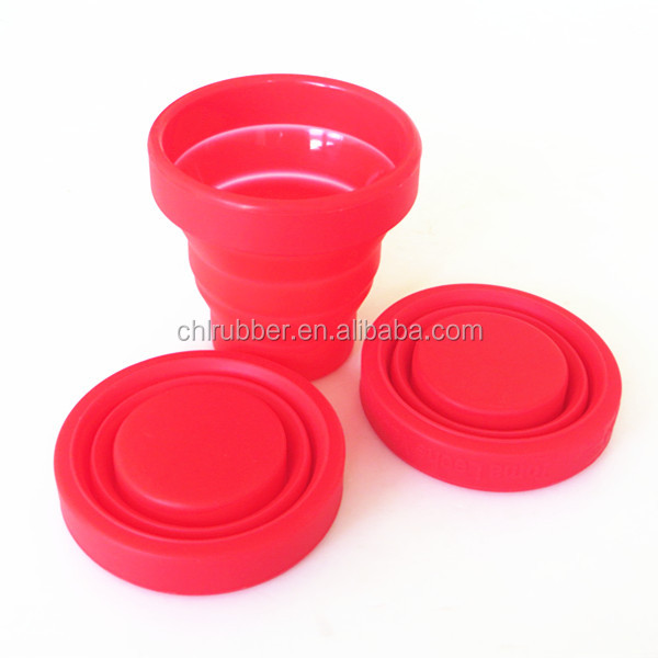 new design folded silicone rubber drinking cup customized