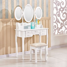 Acrylic Cheap Rotating Mirrored Vanity Dressing Table For Sale