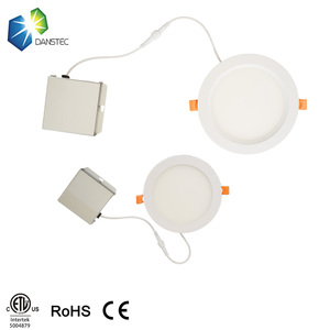 cETL 277v round led panel light kitchen Housing Ultra Thin Ceiling dimmable recessed led panel lights