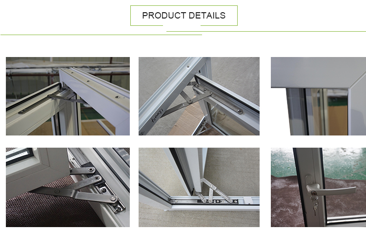 AWA And WERS Certified Australian Standard Double Glazed Glass UPVC PVC Frame Windows Price
