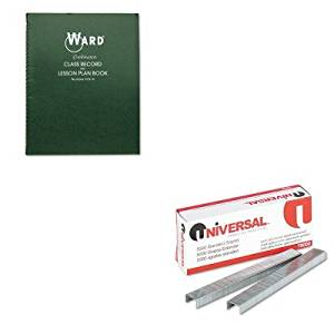 KITHUB91016UNV79000 - Value Kit - Ward Combination Record amp;amp; Plan Book (HUB91016) and Universal Standard Chisel Point 210 Strip Count Staples (UNV79000)