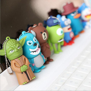 Cartoon pen drive USB 2.0 custom logo 8GB 16GB 32Gb 64 GB usb flash drive, gift usb stick
