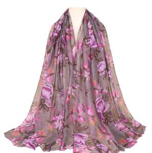 New floral hijab 2019 pattern printed viscose scarves hijabs muslim women popular stoles