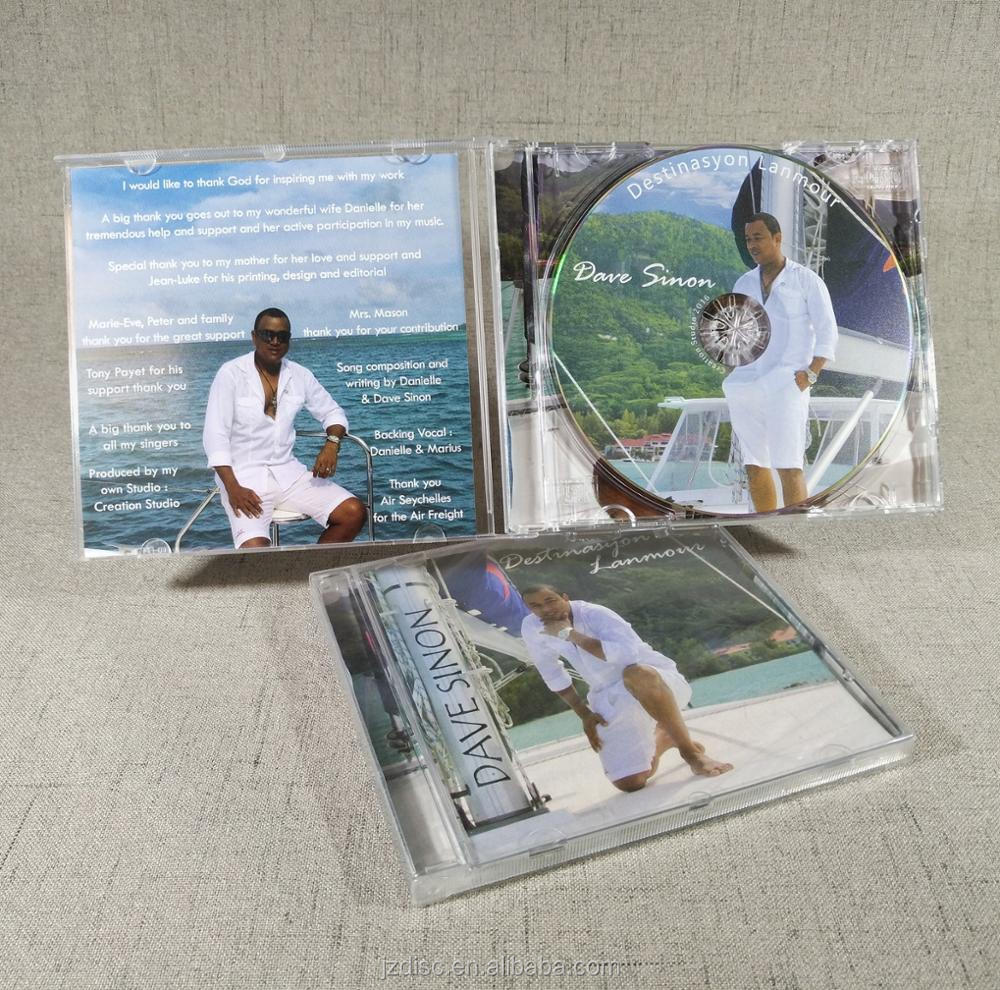 CD pressing Replication Duplication with Jewel Case