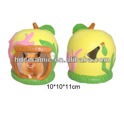 New fruit design Decorative hamster ceramic cage ,small animal house for hamster