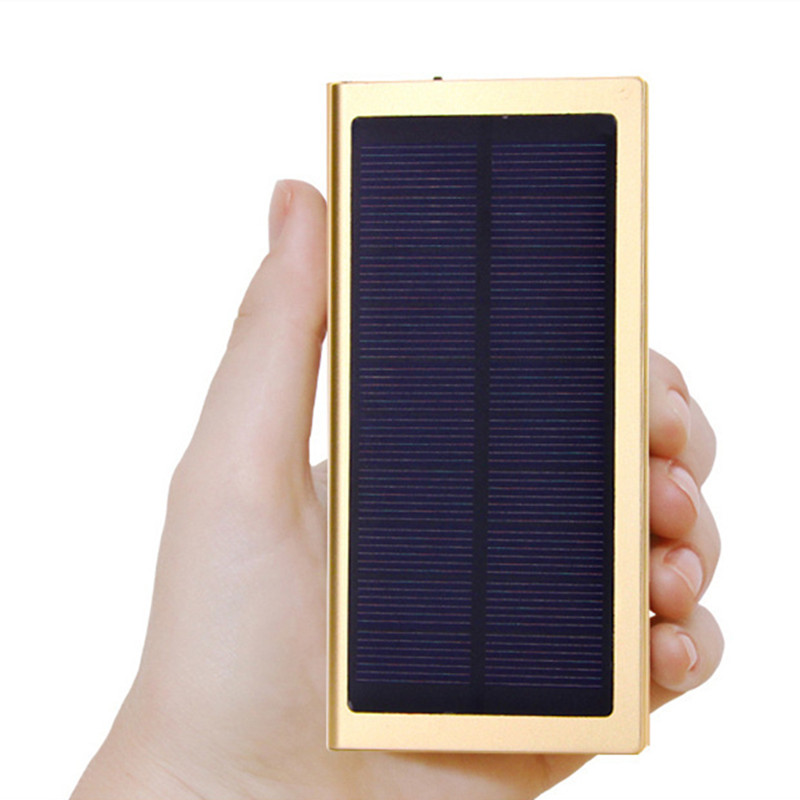 New product solar power bank high efficient USB charger for mobile phone Solar Charger Portable 12000mAh