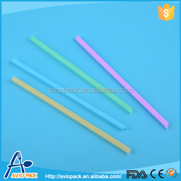 Good promotion gift plastic disposable custom printed drinking straws