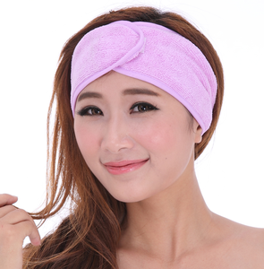 Microfiber Ribbon Makeup Headband Non-slip Yoga Exercise Soft Hair Band Towel