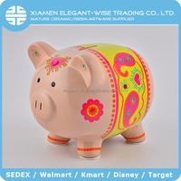 Animal Shape 15.5 x 16 x 20 cm handmade ceramic large animal coin banks piggy bank
