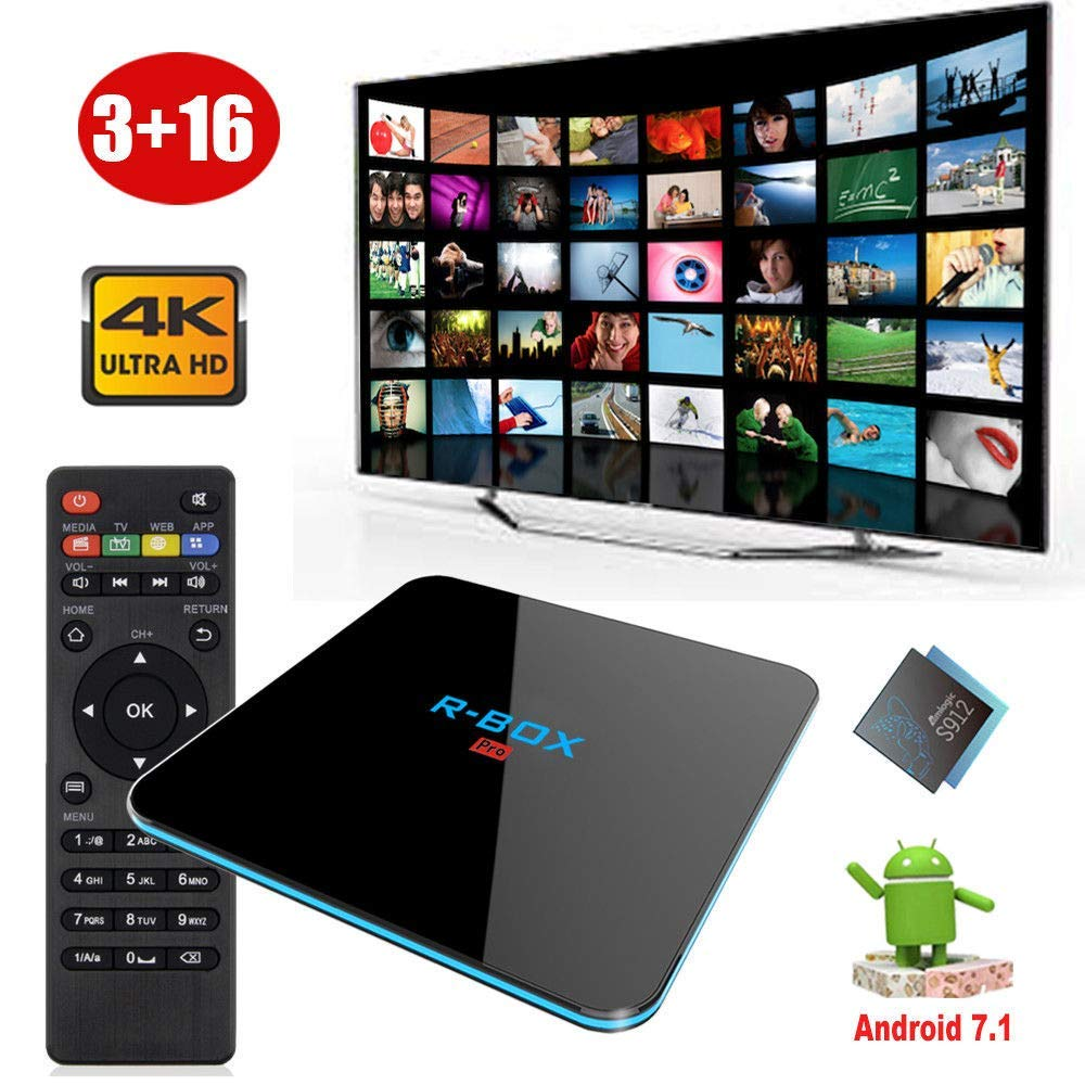 Mocei 3+16G DDR4 Android 7.1 Smart TV Box Dual WiFi Media Player 4K 3D Movies Mini PC