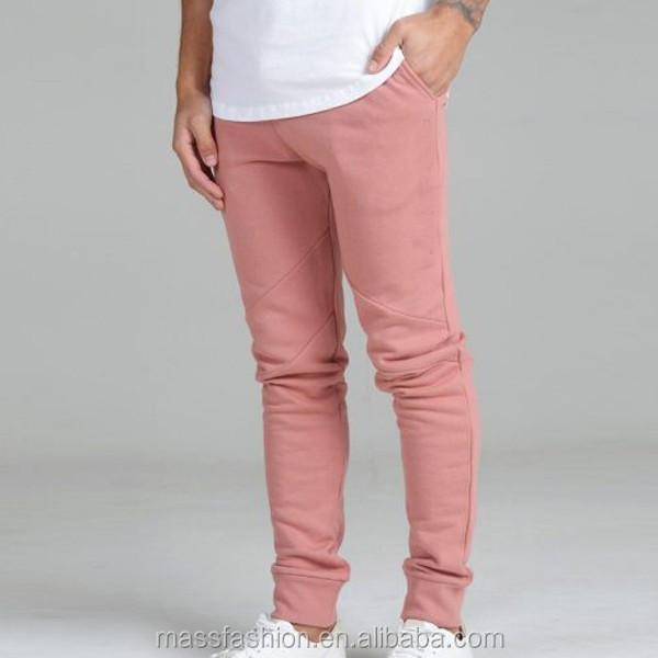 428c30c8a Custom Slim Fit Mens Pink Skinny Joggers Tracksuit Bottoms Men Joggers Pants