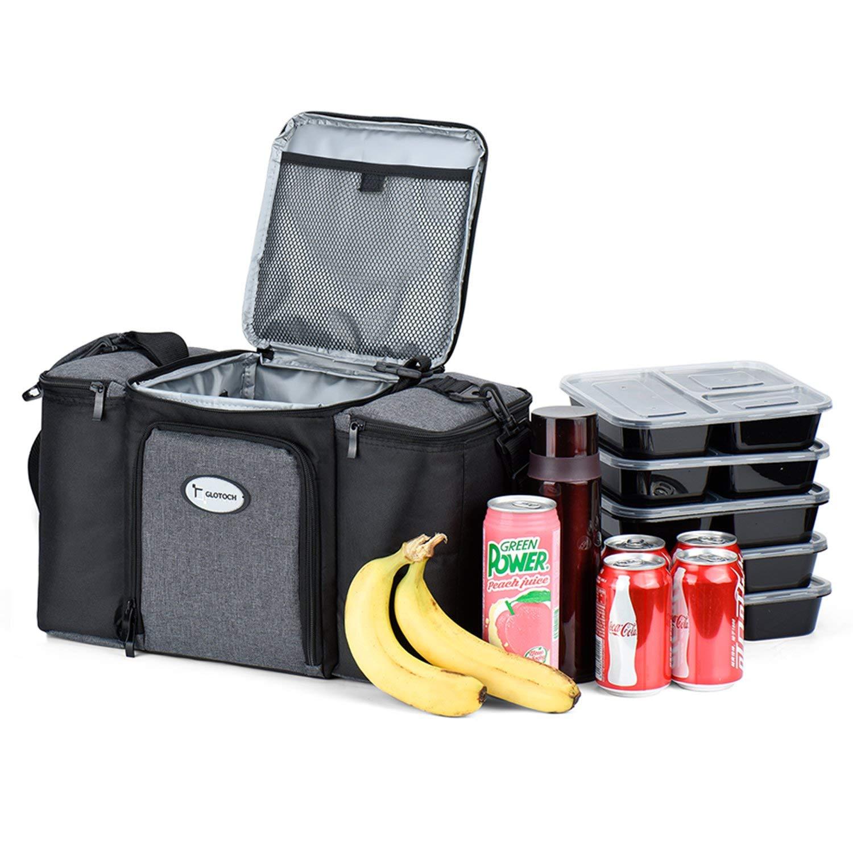 f6da1e82742bb Get Quotations · Pretigo Large Meal Prep Bag Cooler Bag Insulated Lunch Box  Adult Lunch Box Insulated Lunch Bag