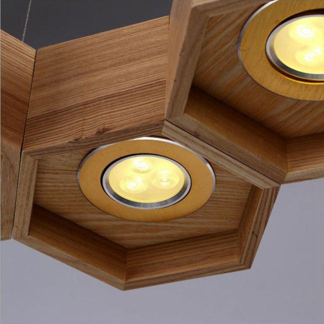 Madera metal techo colgante de luz l mpara de hierro for Ganchos para cortinas de madera
