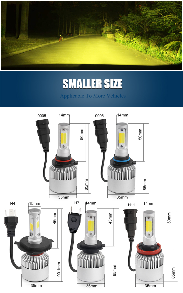 Dual color car light H4 H7 H11 Auto Headlight bulbs,automobile motorcycle h4 h7 led headlight