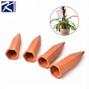 Ceramic Automatic Plant Waterer Garden Terracotta Watering Spikes