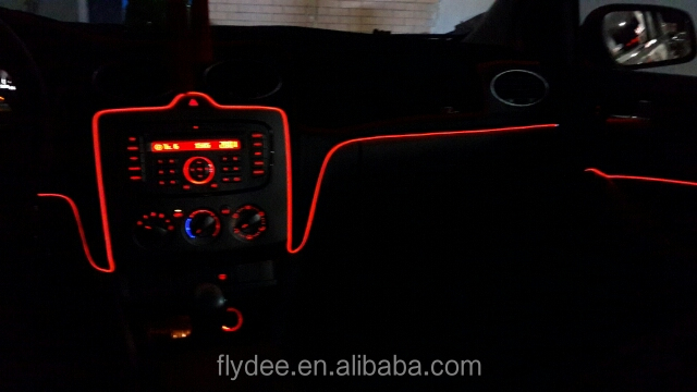 Car Inside Orange Red Led Neon Light For Bmw Car Interior Red ...