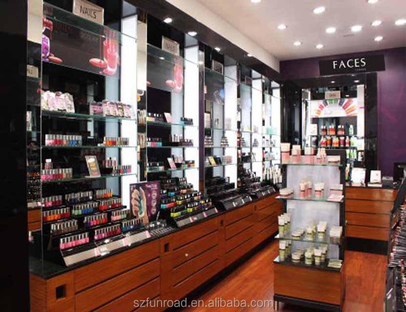 Wholesale cosmetic beauty salon shop showcase interior decoration