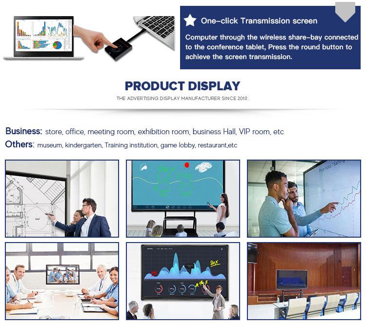 65,75, 86 zoll drahtlose Miracast smart board