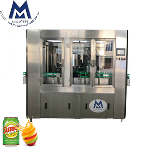 Normal Pressure Gravity Filling High Precision Canned Juice Filling And Seaming Machine / Herbal Tea Canning Machine Line