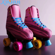 soy luna roller skate shoes for children led light kids shoes with flashing wheel