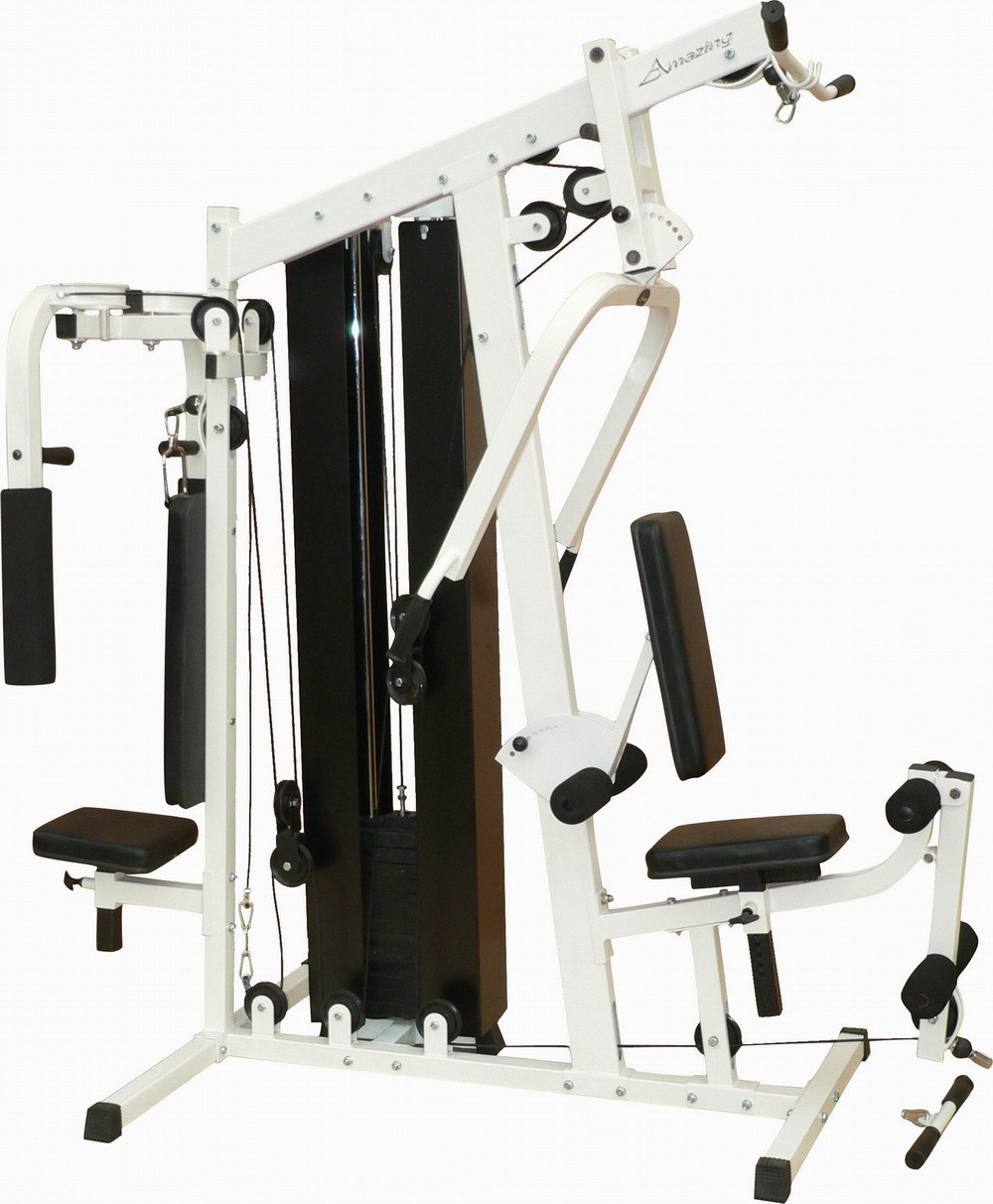 Ama b ten station home gym with groups weight stack