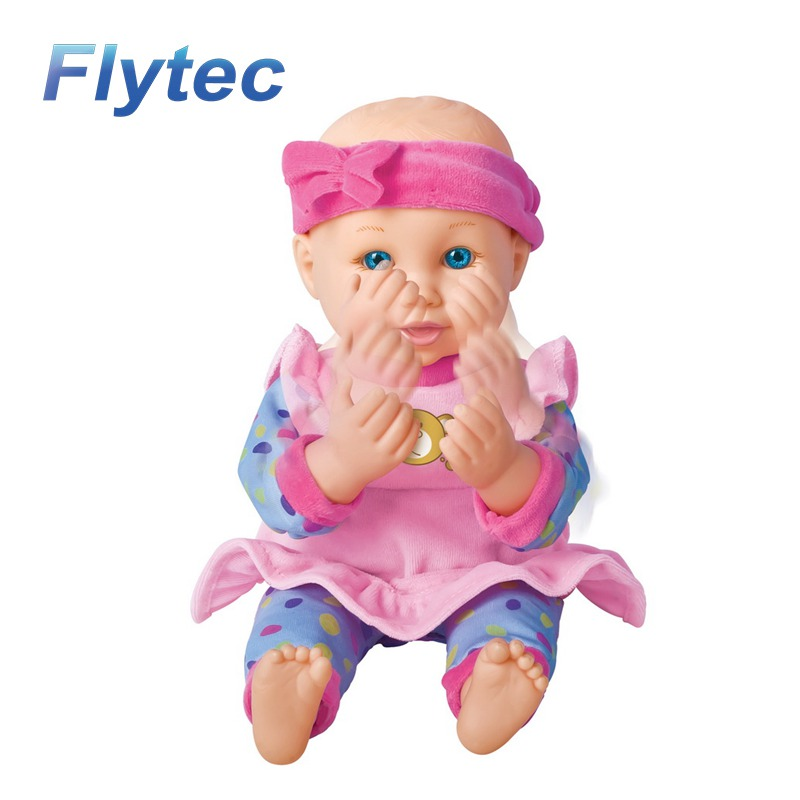 High Quality Lovely Dolls 12.5inch Silicone Light Control Reborn Baby Doll With 3 sounds