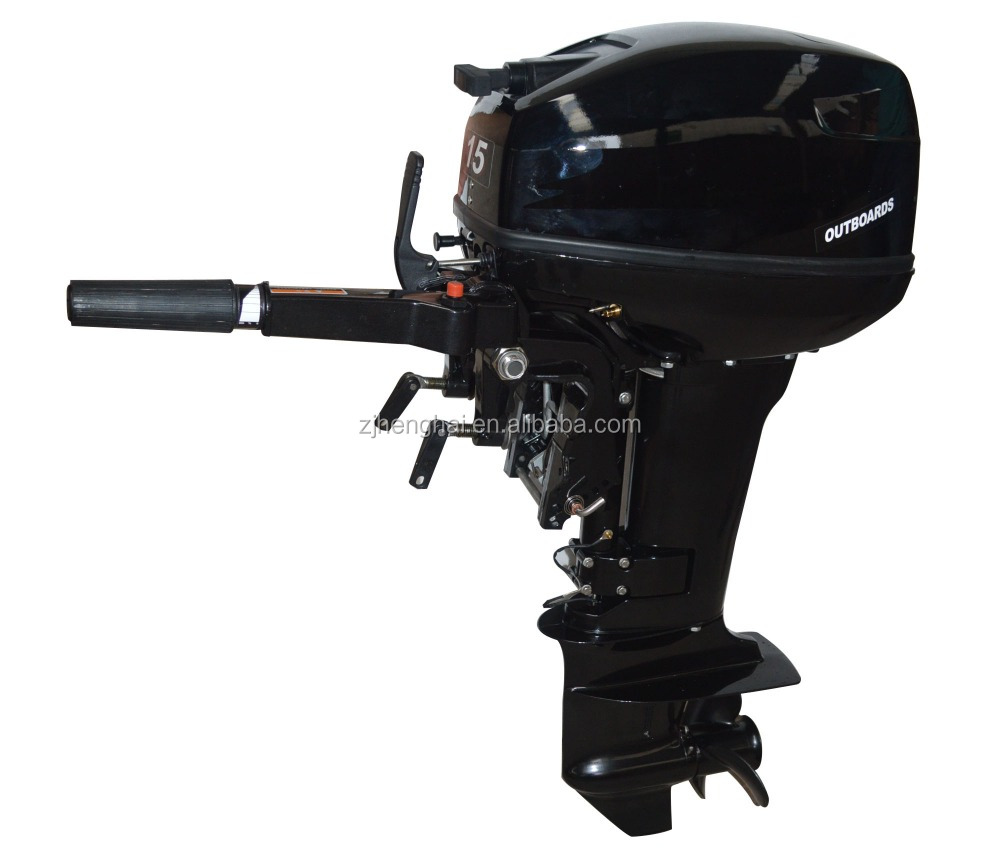 Two stroke 15HP outboard motor with short shaft