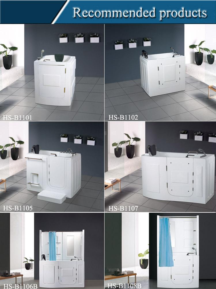 HS-EB013A 1.35m length with high glass door walk bathtub shower ...