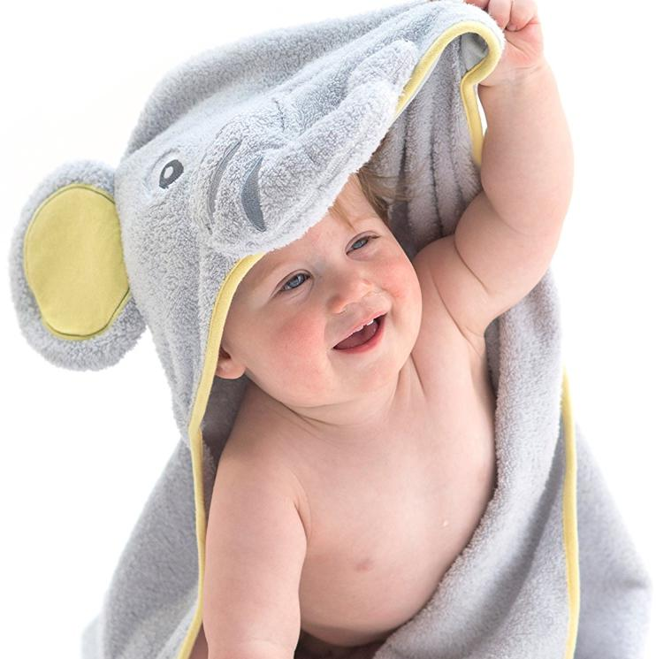 100% <strong>Cotton</strong> Keeps Baby Dry and Warm Ultra Soft baby hooded towel