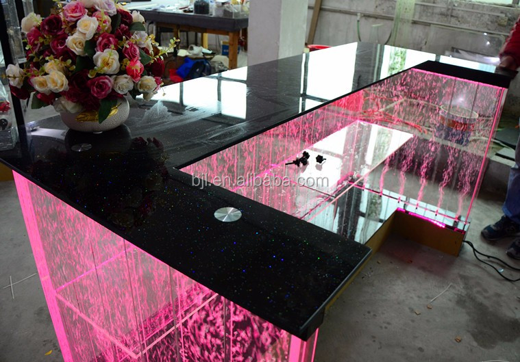plexiglass display case reception desk led display case hotel plexiglass front desk with top glass - Glass Front Hotel Decoration