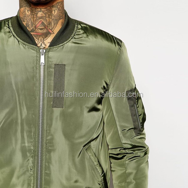 Mens Clothing Factory Smooth Fabric Custom Bomber Jacket Wholesale ...