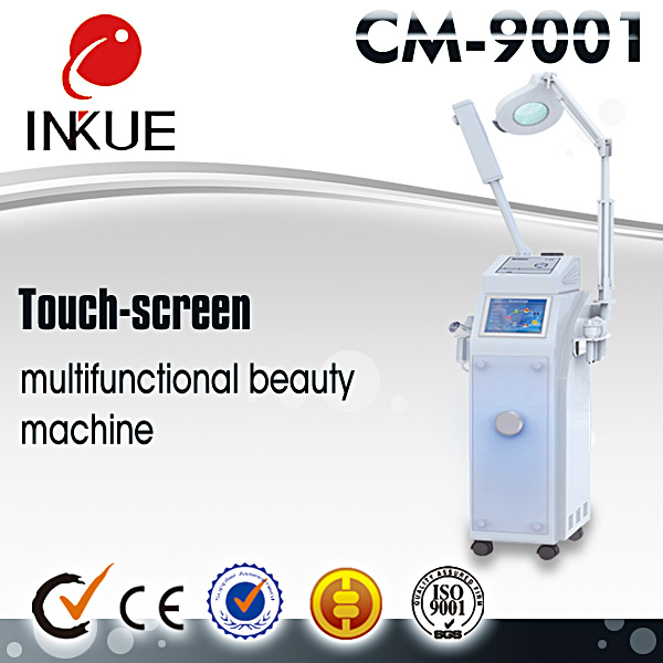 CM-9001 multi function LED light face beauty device microcurrent handheld photon machine