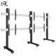 Powder Black Multi Screens Flat Panel TV Monitor Bracket LCD Screen Stand Chinese TV Stand
