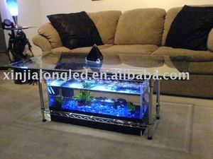 digital acrylic end table aquarium