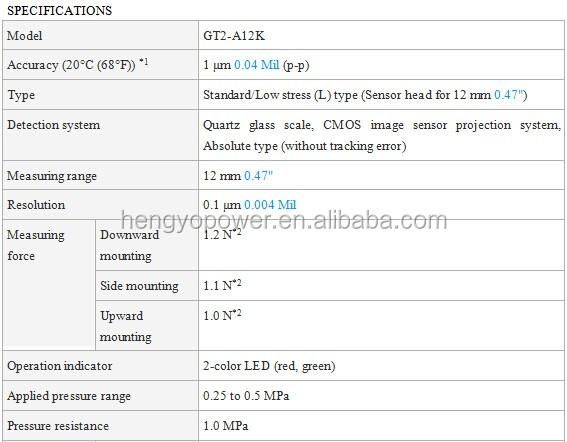 Keyence Gt2 Series High-accuracy Digital Contact Sensor Gt2-a12k - Buy  Gt2-a12k,Keyence Gt2 Series,Ditital Contact Sensor Product on Alibaba com