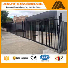 security fence-013 Eco-friendly,Trellis&gates type steel plate fence ,install aluminum fence