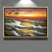 modern hand painted decoration canvas art ocean waves oil painting