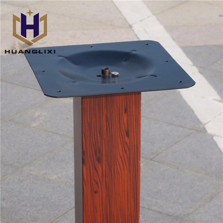 Unico metallo quadrato tavolo da pranzo gambe, piedi per mobili ...