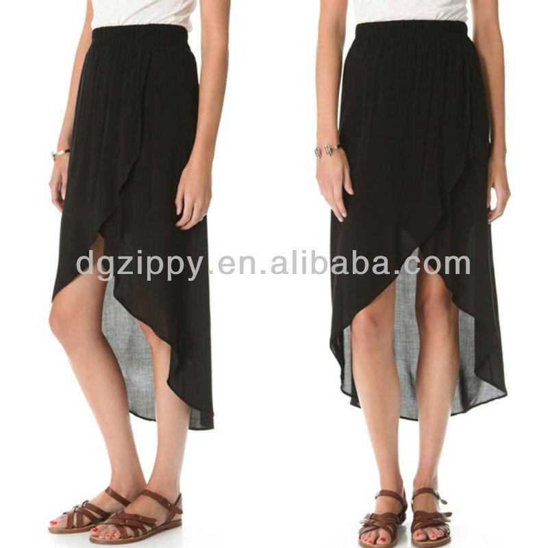cacffcdf98 Short Front Long Back Skirts In Chiffon,Gothic Shirt Wholesale - Buy ...