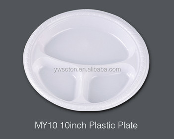 3 Parts 10 Inch White Dishes Plastic Plate Disposable Weeding Pary Birthday Tableware Dinnerware Salad Plates & 3 Parts 10 Inch White Dishes Plastic Plate Disposable Weeding Pary ...
