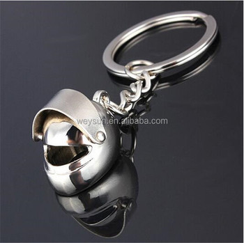 Car Motorcycle Bicycle Helmet Auto Key Chain Ring Keychain Keyring Silver Plated Cool