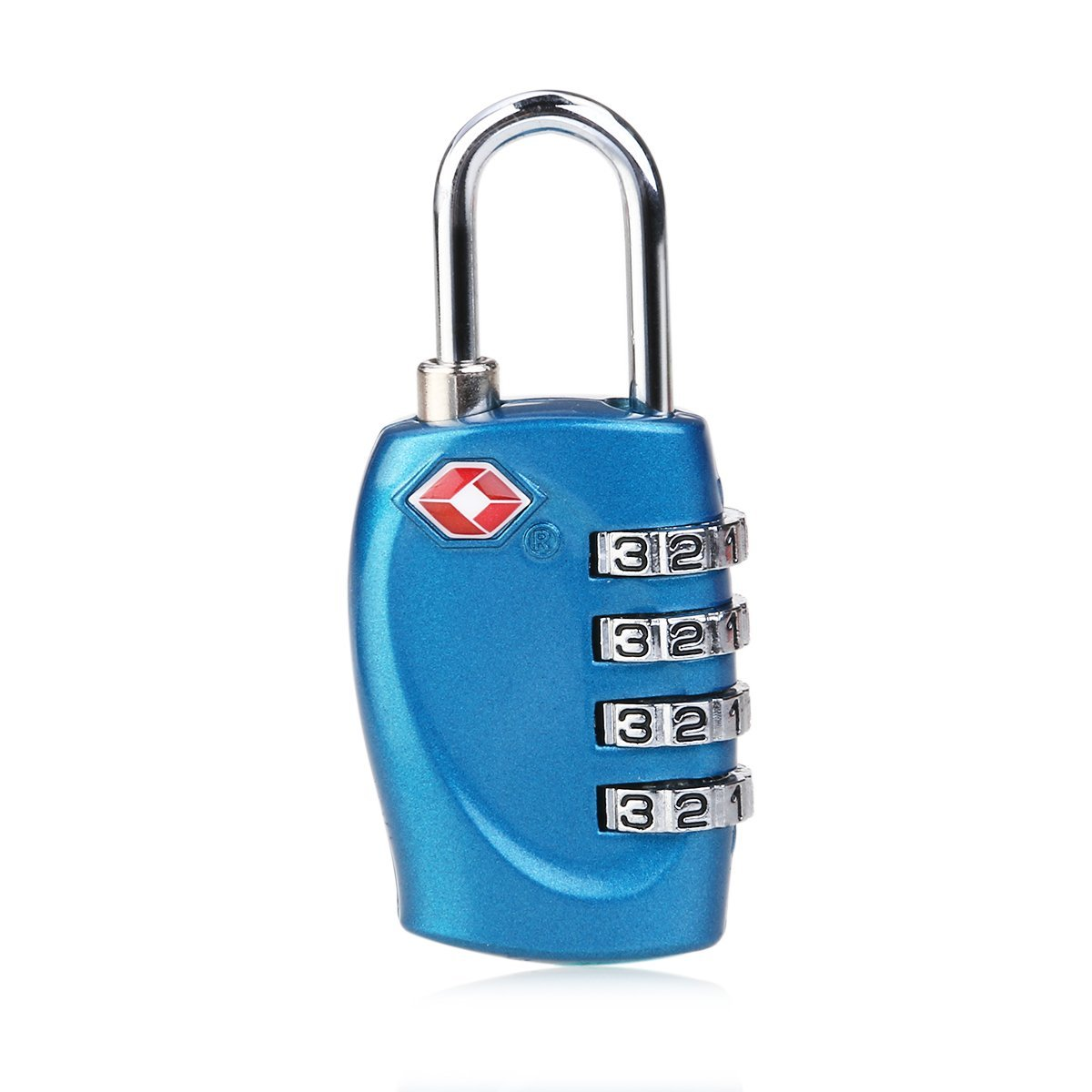 WINOMO TSA-330 TSA Approved Security Luggage Padlock 4-Digit Combination Password Lock Padlock (Blue)