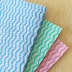 45g wave printed pack of 50 super absorbent spunlace nonwoven fabric disposable dish cloth