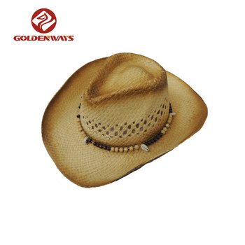 Boutique Paper Straw Cowboy Hats With Customized Logo Wholesale ... 27adf28c1a7