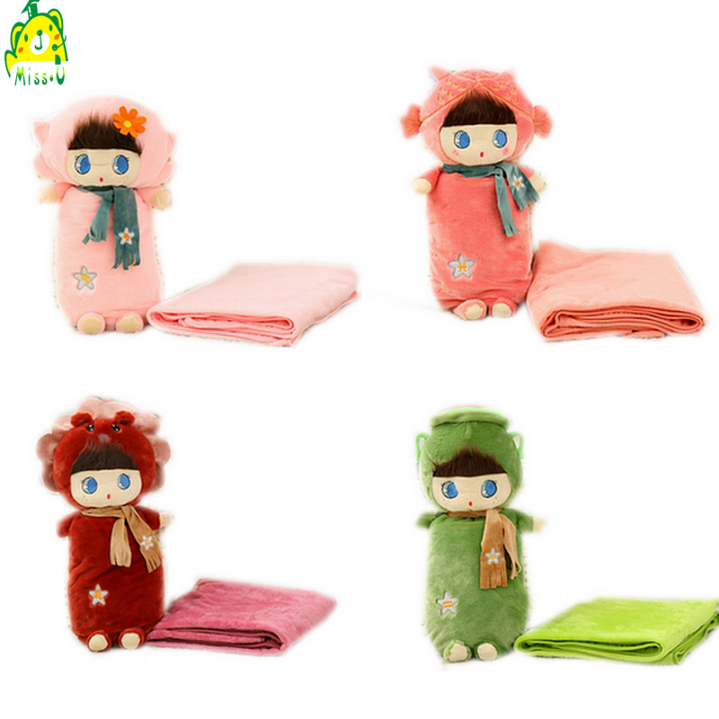 Stuffed plush baby blanket toy for gifts