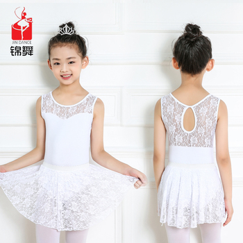 e6c03860d Fashion Design Kids Girls Ballet Dance Lace Leotards Sexy White ...