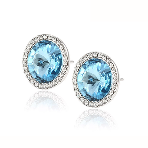 92633 gemstone jewelry Crystals from Swarovski, diamond big stone stud earrings