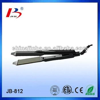2014 latest buy hair straightener with wide Titanium Plate