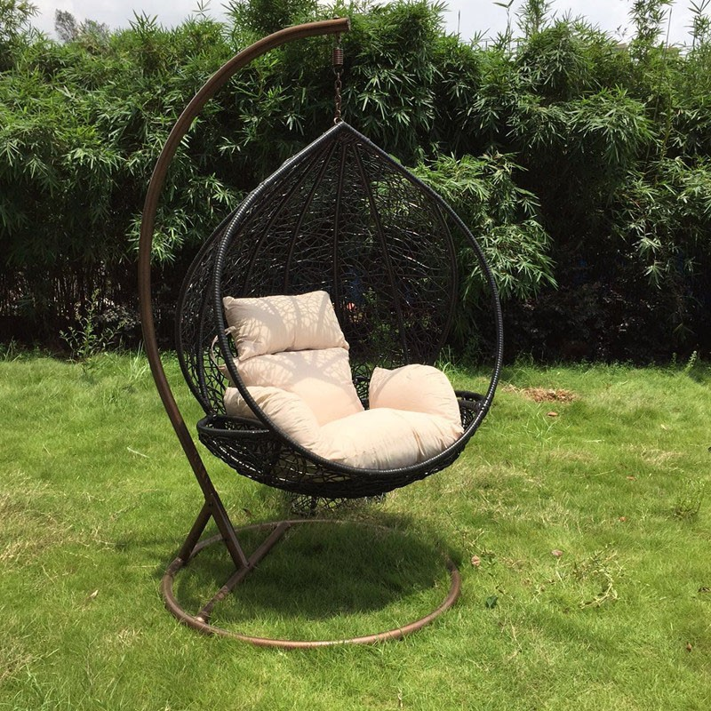 Marvelous Wholesale Modern Patio Swing SGS Certificate Black Egg Chair Outdoor Hanging  Chair