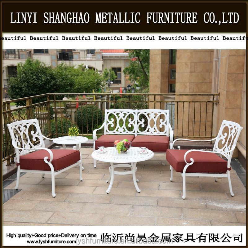 Fundición de aluminio muebles de jardín al aire libre sofá patio ...